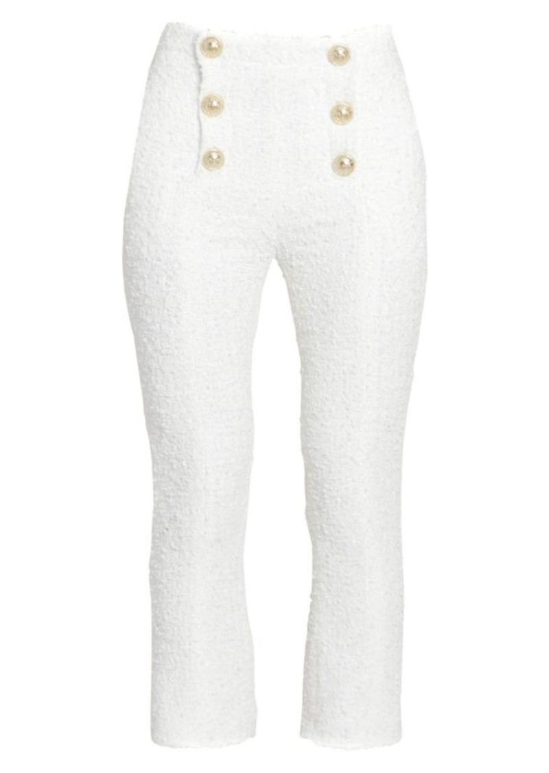 Balmain Cropped Tweed Sailor Pants