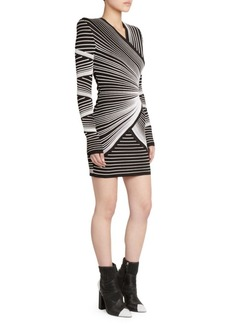 Balmain Crossed Mesh Bodycon Dress