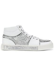 Balmain crystal embellished hi-top sneakers