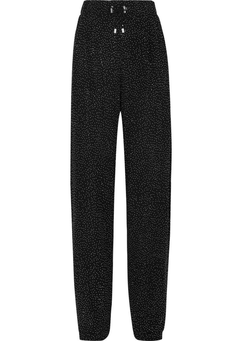 Balmain Crystal-embellished Knitted Straight-leg Pants