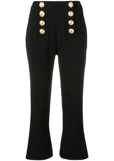 Balmain decorative buttons cropped trousers