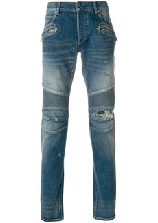 Balmain denim biker jeans