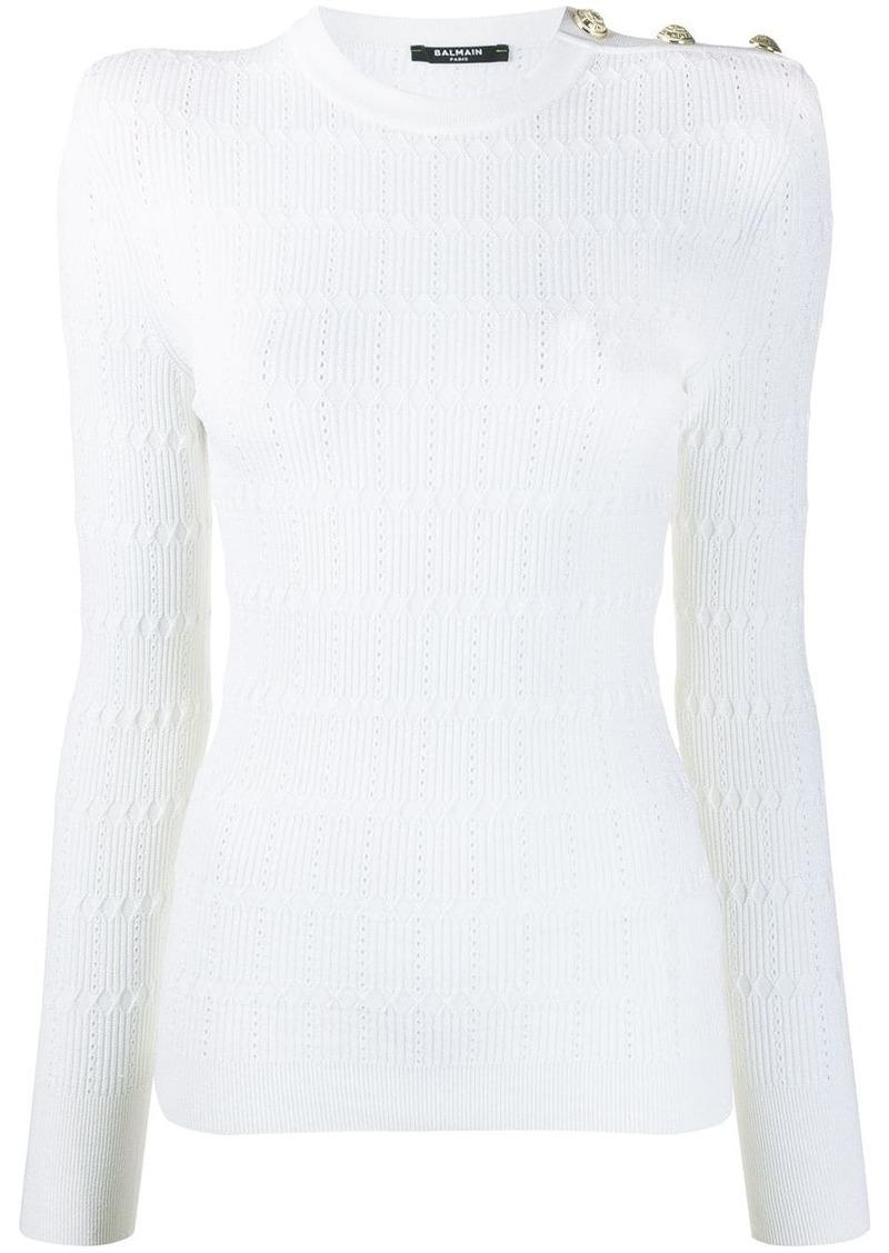 Balmain diamond knit jumper