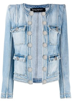 Balmain diamond quilted denim jacket