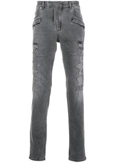 Balmain distressed 7 pocket skinny jeans