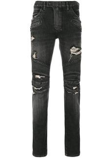 Balmain distressed biker jeans
