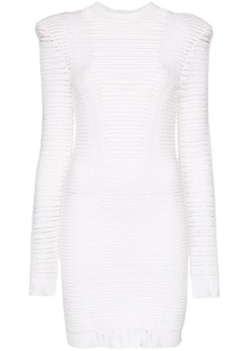 Balmain distressed mini dress