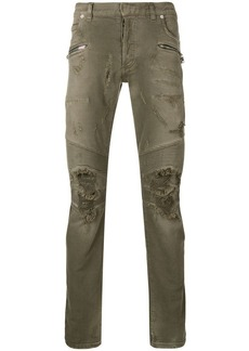 Balmain distressed style jeans