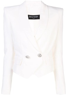 Balmain double-breasted cropped blazer