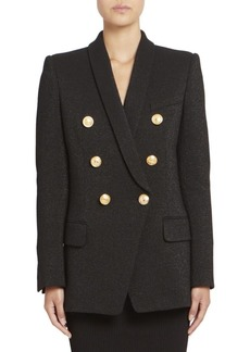Balmain Double-Breasted Glitter Jacket