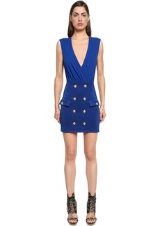 Balmain Double Breasted Jersey Dress