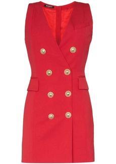 Balmain double-breasted sleeveless blazer dress