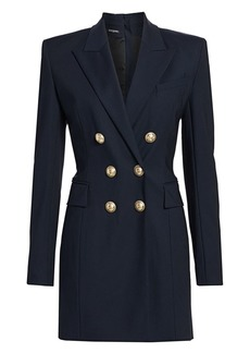 Balmain Double-Breasted Stretch-Wool Jacket Dress