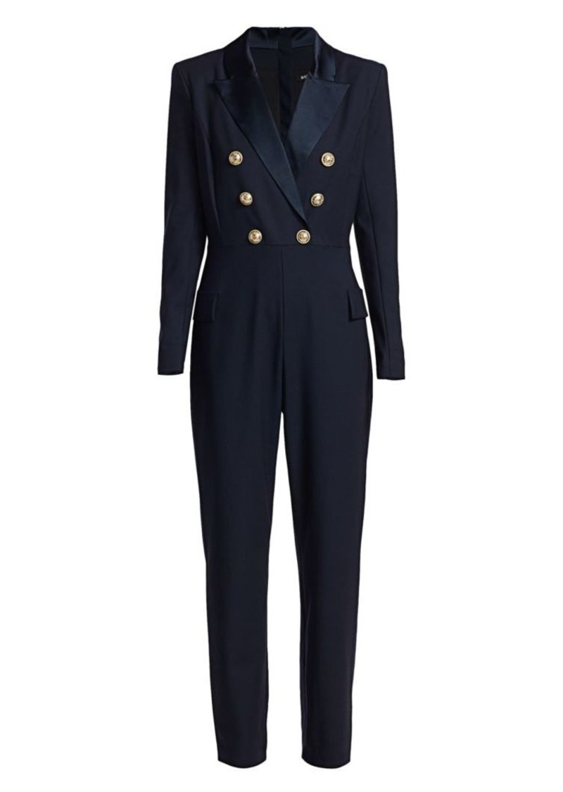 Balmain Double-Breasted Stretch Wool Jumpsuit