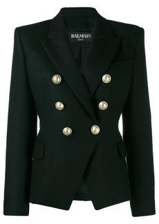 Balmain double-breasted structured shoulder blazer