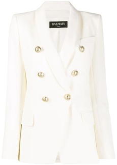 Balmain double breasted structured blazer