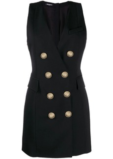 Balmain double breasted tuxedo dress