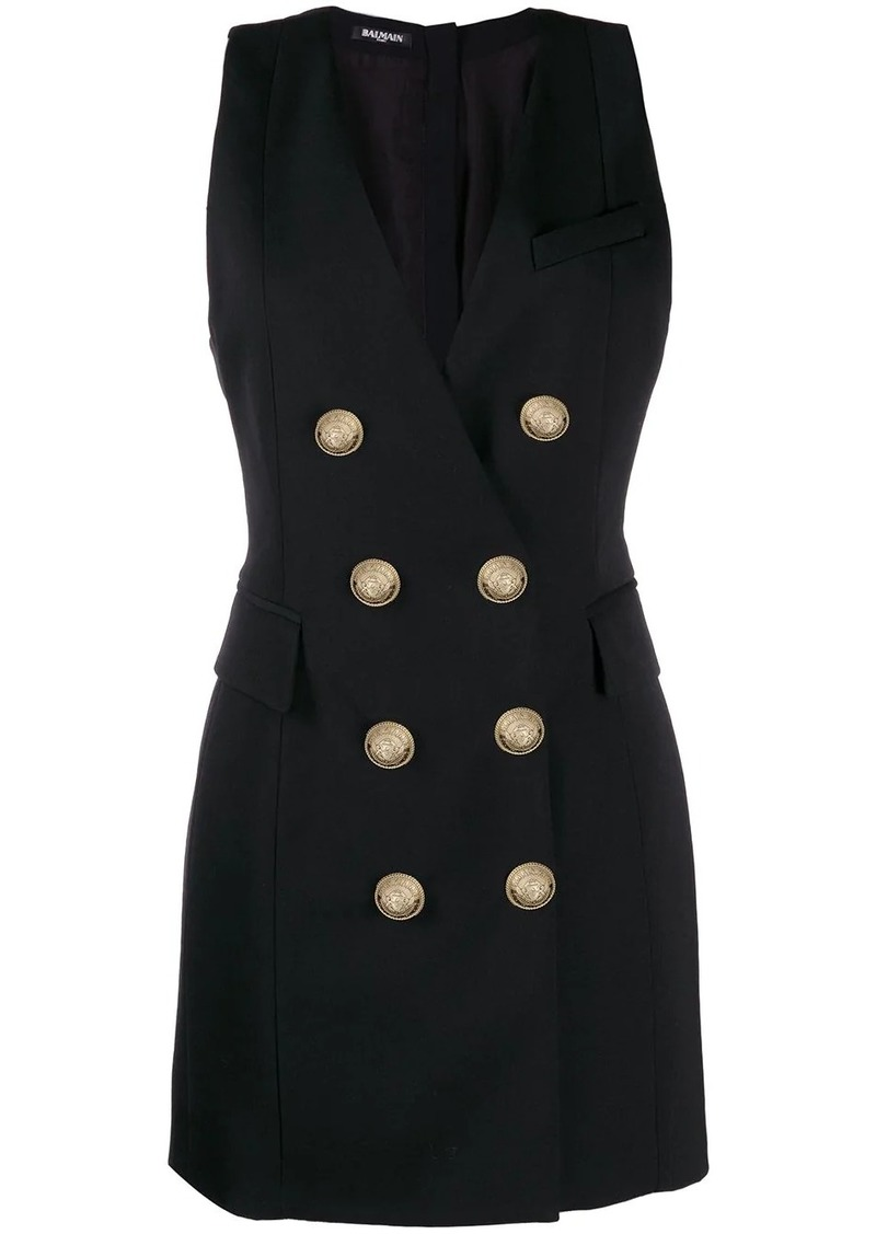 Balmain double-breasted tuxedo dress