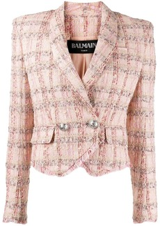 Balmain double-breasted tweed blazer