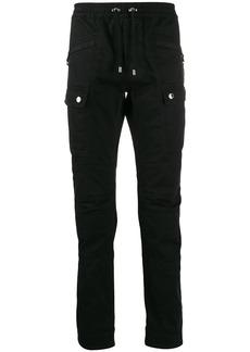 Balmain drawcord skinny trousers