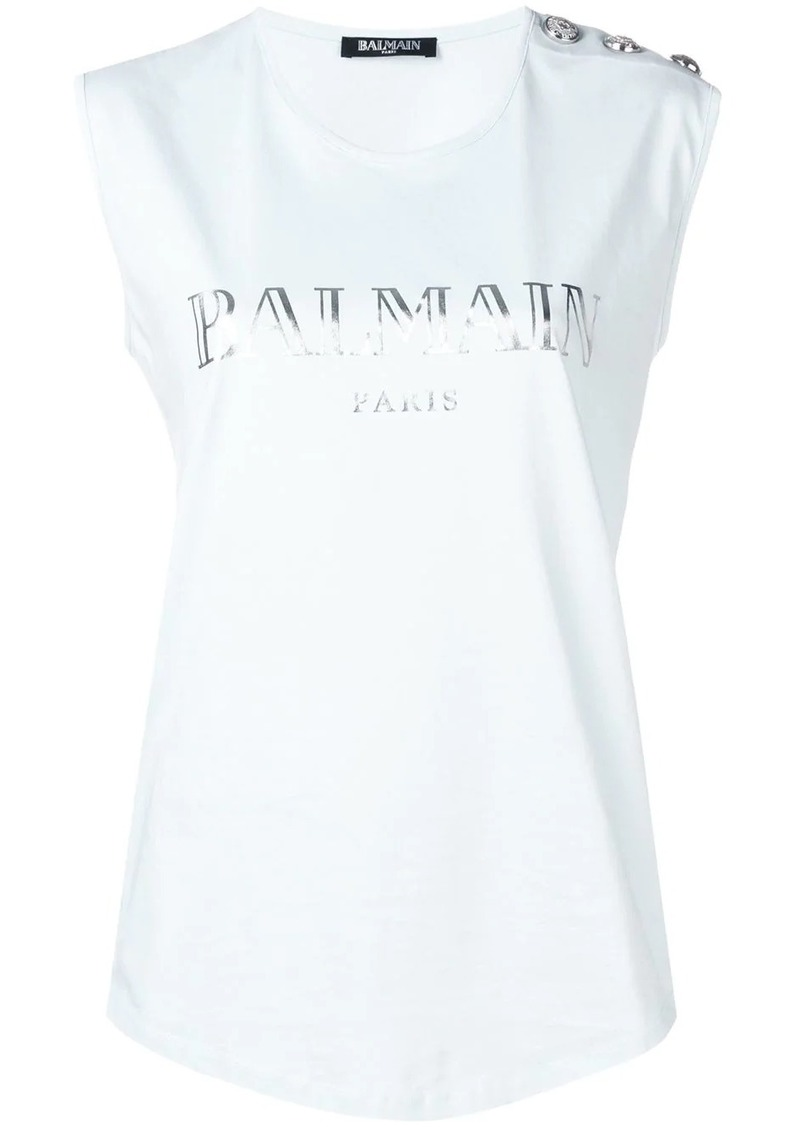 Balmain embellished buttons top