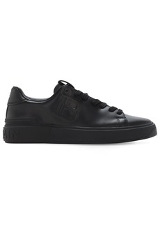 Balmain Embossed Bcourt Leather Low Top Sneakers