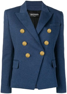 Balmain embossed button blazer