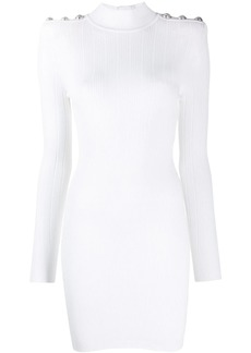 Balmain embossed button dress