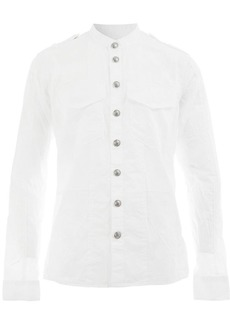 Balmain embossed button shirt