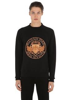 Balmain Embroidered Cotton Jersey Sweatshirt