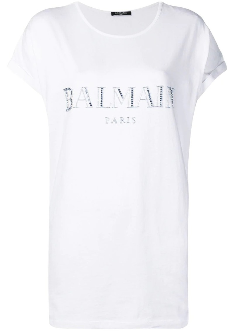 Balmain embroidered logo T-shirt