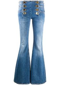 Balmain faded flare jeans