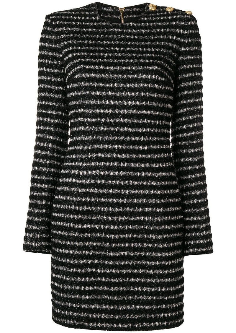 Balmain fitted tweed mini dress