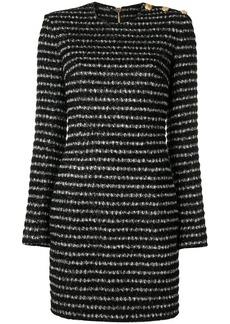 Balmain fitted tweed mini dress