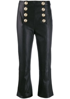 Balmain flared cropped trousers