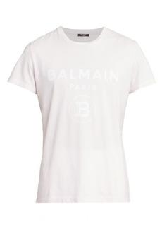 Balmain Flock Logo Graphic T-Shirt