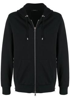 Balmain flock logo zip-up hoodie