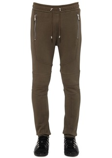Balmain Flocked Cotton Jersey Pants