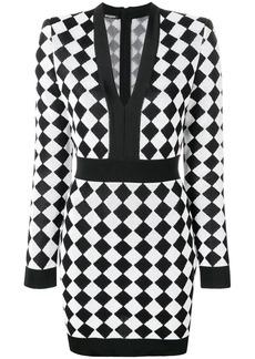 Balmain geometric pattern dress