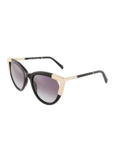 Balmain Gradient Acetate/Metal Cat-Eye Sunglasses