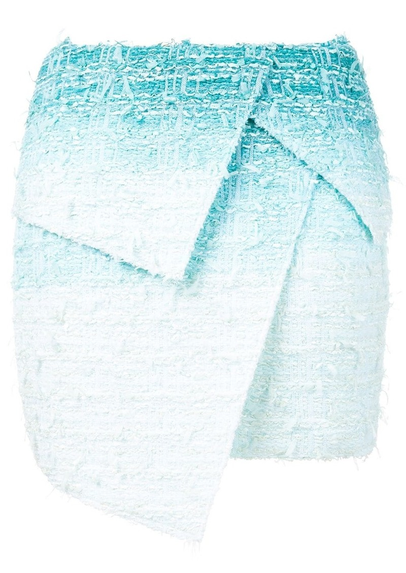Balmain gradient-effect layered skirt