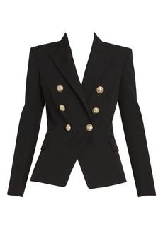 Balmain Grain de Poudre Wool Jacket