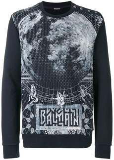 Balmain graphic print sweater