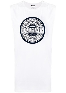 Balmain graphic tank top