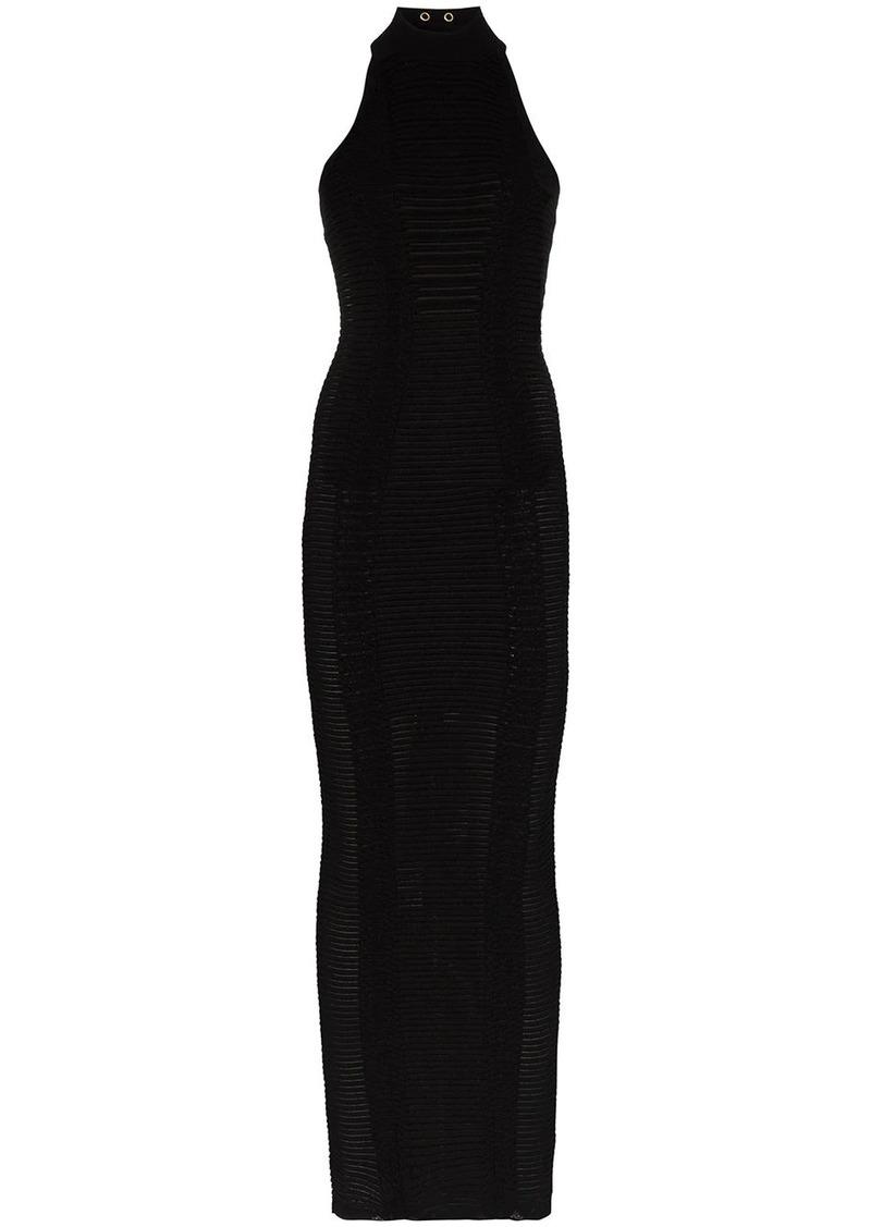 Balmain halterneck fitted dress