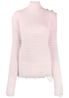 Balmain high-neck jumper