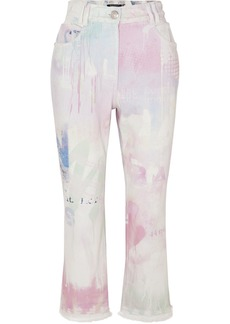 Balmain High-rise Acid-wash Flared Jeans