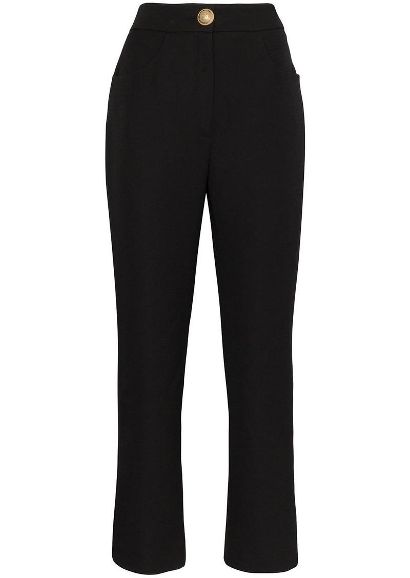 Balmain high-rise cropped trousers