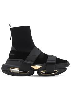 Balmain High Top Sock & Strap Tech Sneakers