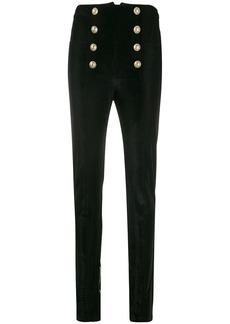 Balmain high-waist velvet trousers